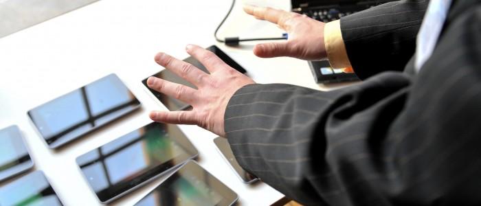 vernetzte tablet computer sensoren