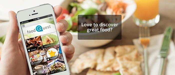 Foodquest App für individuelle Restaurantempfehlungen