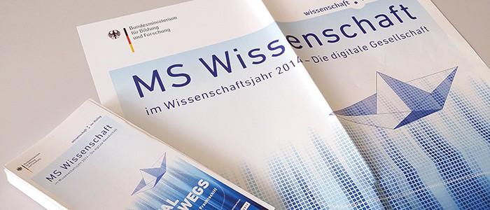 MS Wissenschaft Flyer und Plakate
