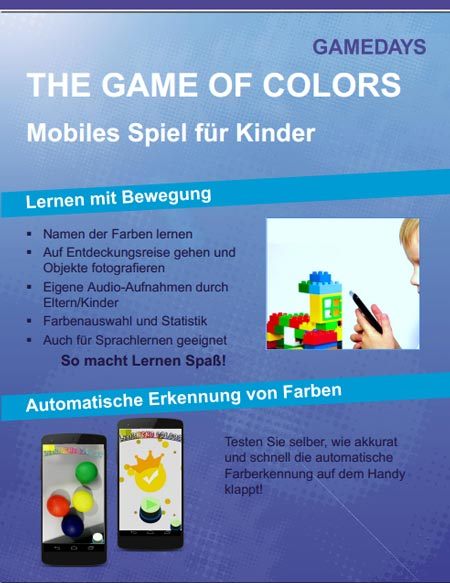 Game of Colors Augmented-Reality-Lernspiel für Kinder